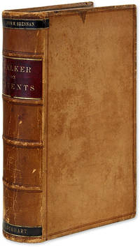 Text-Book of the Patent Laws of the United States of America. 1st Ed by  Albert H Walker  - First edition  - 1883  - from The Lawbook Exchange Ltd (SKU: 69778)
