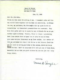 TYPED LETTER SIGNED, 1969