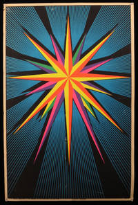 """Light Sound""  Neon Blacklight Poster, 1968"