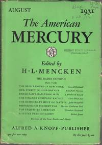image of The American Mercury: Vol. XXIII, No. 92, August 1931