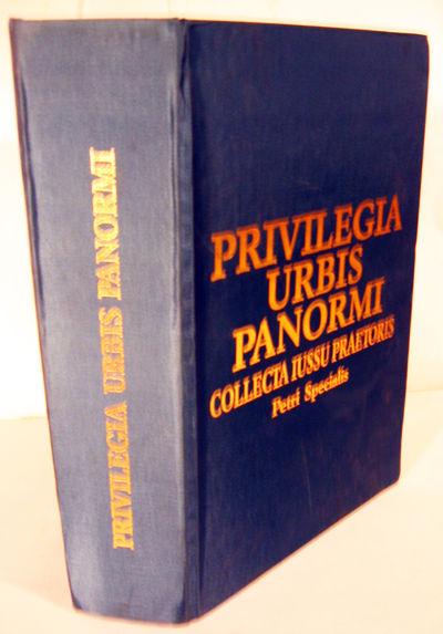 Palermo: Accademia Nazionale Di Scienze Lettere E Arti. Reprint. Hardcover. Orig. navy cloth lettere...