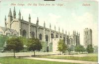"""New College, Old City Walls from the """"Slipe"""", Oxford, early 1900s unused Postcard"""