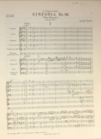 Sinfonia Nr. 96. ''The Miracle,'' Herausgegen von H.C. Robbins Landon, Partitur by  Joseph Haydn - Paperback - 1962 - from Veery Books (SKU: 001159)