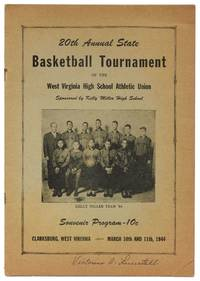 image of 20th Annual State Basketball Tournament of the West Virginia High School Athletic Union Sponsored by Kelly Miller High School, Souvenir Program. Clarksburg, West Virginia, March 10th and 11th, 1944