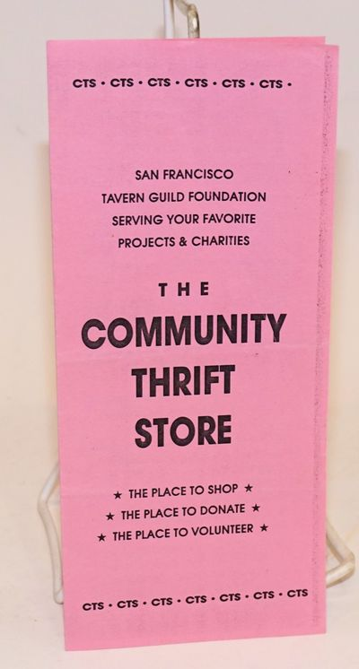 abaa the community thrift store brochure by san francisco tavern