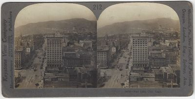 Meadville, PA: Keystone View Company, 1915. Stereoview. Albumen photograph on a curved gray Keystone...
