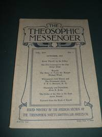 The Theosophic Messenger for October 1912