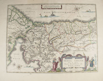 Amsterdam: Blaeu, W, 1634. Copper engraved, hand-colored map of one of the most decorative map of th...