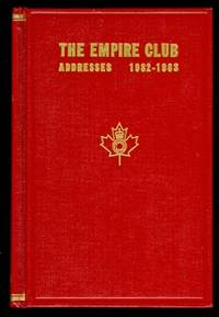 image of THE EMPIRE CLUB OF CANADA, ADDRESSES 1982-1983.  EIGHTIETH YEAR.