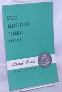 image of State Legislative Program for 1945