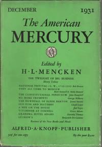 image of The American Mercury Vol. XXIV No. 96: December 1931