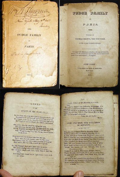 New York: Kirk & Mercein, 1818. 126 pages; by Thomas Moore (1779-1852) Irish poet, writer, most famo...