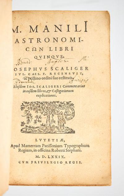 M. Manili astronomicon libri quinque