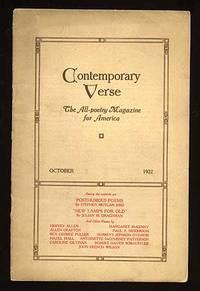 image of Contemporary Verse: October 1922