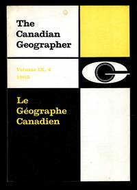 image of The Canadian Geographer/Le GéographeCanadien, Volume 9 Number 4