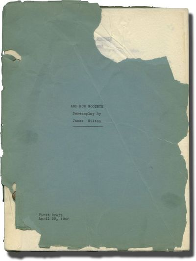 Los Angeles: Self published, 1940. First Draft script for an unproduced film titled