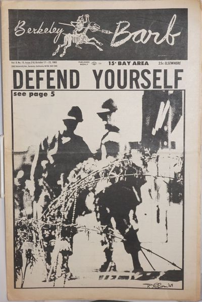 Berkeley: Berkeley Barb, 1969. Newspaper. 20p., folded tabloid, illus., lightly and evenly toned, ti...