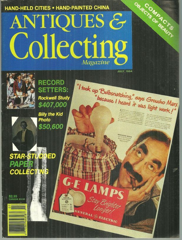Image for ANTIQUES AND COLLECTING MAGAZINE JULY 1994