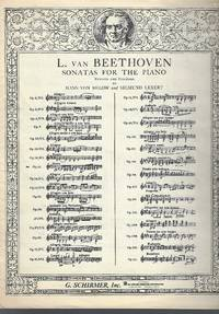 Sonatas For The Piano, Revised and fingered by Hans Von Bulow & Sigmund Lebert (Sonate Pathetique Op. 13 )