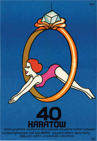 image of 40 karatow [40 Carats] (Original Polish poster for the 1973 film)