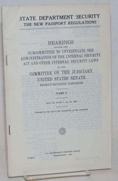 Washington, D. C.: GPO, 1962. pp. 229-377, xxxviii; staplebound paperback, mild wear to covers. Disc...