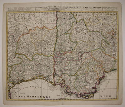 Amsterdam: Petrus Schenk, 1705. unbound. very good(+). Map. Engraving with original hand outline. Ma...