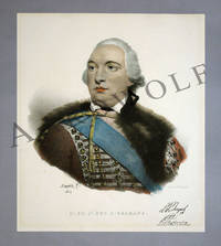 1824 Lithograph Portrait Of Louis Philippe Joseph, Duc d'Orleans