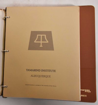 Albuquerque, N.M.: Tamarind Institute, 1979. Hardcover. G+, these are contained in a 3-ring binder. ...