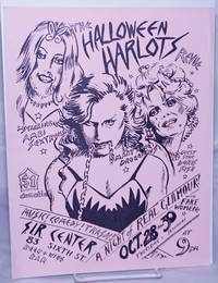 image of The Halloween Harlots revue starring Ambi Sextrous, Mary Anne Drogenous_Guest Star Doris Fish [handbill] Music! Comedy! Trash! a night of real glamour! with fake women! Oct. 28_30