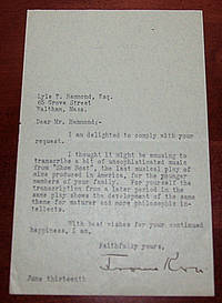 Typed Letter Signed referring to