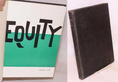 New York: Actors' Equity Association, 1959. Twelve issues, 8.5x11 inches, illus., bound in black buc...