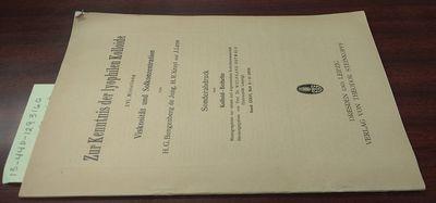 Dresden: Verlag von Theodor Steinkopff. First Edition. Softcover. 8vo, paged -462, illustrated, tabl...