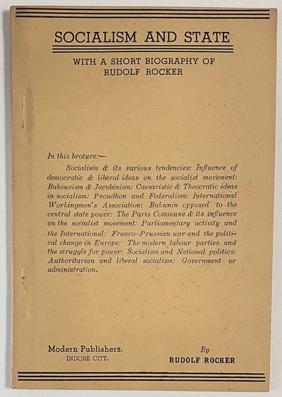 Indore City, India: Modern Publishers, 1946. 33p., staplebound pamphlet, very good with minor toning...