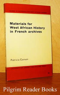 Materials for West African History in French Archives