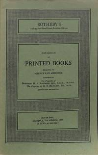 Sale 7 March 1977: Printed books relating to science and medicine.