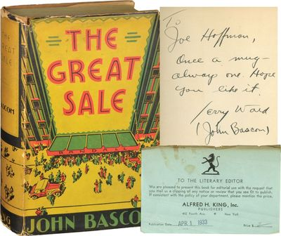 New York: Alfred H. King, 1933. First Edition. First Edition. INSCRIBED by the author and screenwrit...