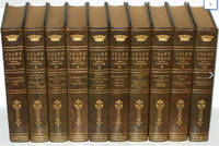 image of THE COMPLETE WORKS OF JULES VERNE. First Collected Edition. Bound in full leather. Complete in 10 volumes.