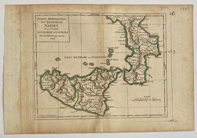 Paris: Gilles Robert de Vaugondy, 1748. unbound. Map. Original uncolored engraving. Image measures 7...