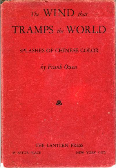 New York: The Lantern Press, 1929. Octavo, pp. 3-118 , original decorated boards with black cloth sh...