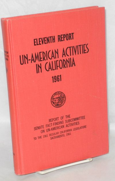 Sacramento, 1961. 383p., original red cloth binding slightly edge worn, previous owner's name on fro...