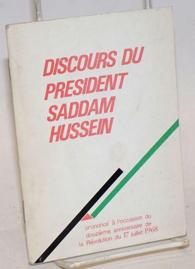 Baghdad: Ministère de la culture et de l'information, 1980. 44p., slender booklet, very good.
