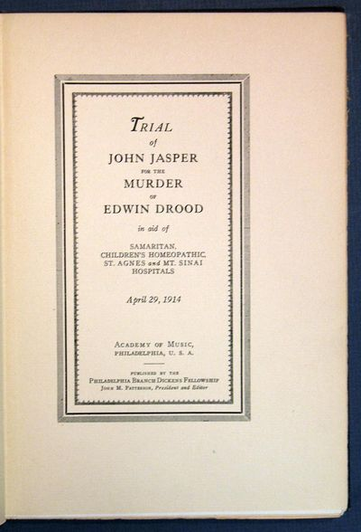 Philadelphia: Dickens Fellowship, 1914. 1st edition, limited to 500 copies (#157/500). Presentation ...
