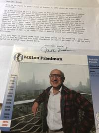 image of Milton Friedman SIGNED Autobiographical Letter