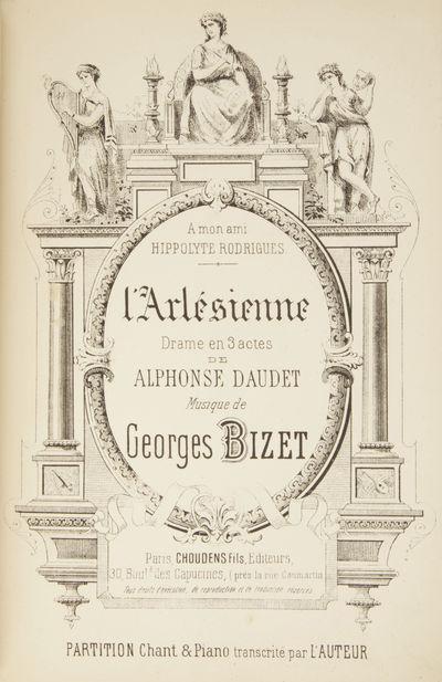 Paris: Choudens Fils , 1890. Large octavo. Full dark green cloth, titling gilt to spine. 1f. (title)...