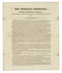 The Christian Spectator. Howe & Spalding, New Haven, propose publishing a religious periodical work, to be entitled the Christian Spectator
