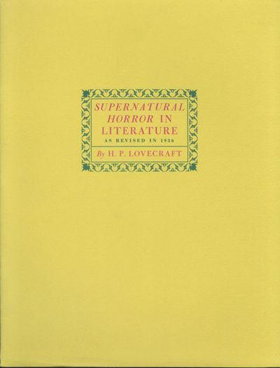 [Arlington, Virginia: Carrollton-Clark, 1974. Large octavo, six leaves, printed on rectos only, yell...