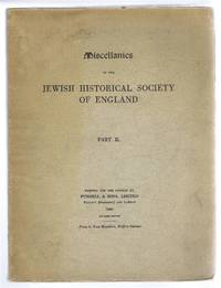 image of Miscellanies of the Jewish Historical Society of England Part III