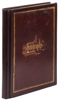 Garfield, James. Autograph album with rare signatures from sitting President James Garfield, his cabinet, Senators, Congressmen and future Presidents Chester A. Arthur and Benjamin Harrison. 6 May, 1881.