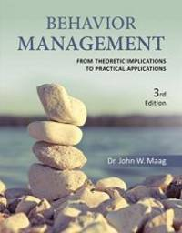 Behavior Management: From Theoretical Implications to Practical Applications by John W. Maag - Paperback - 2017-01-01 - from Books Express and Biblio.com