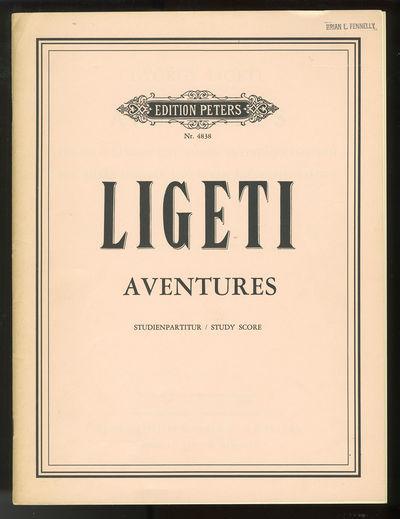 Frankfurt: Henry Litolff's Verlag / C.F. Peters , 1964. Quarto. Original publisher's light pink prin...